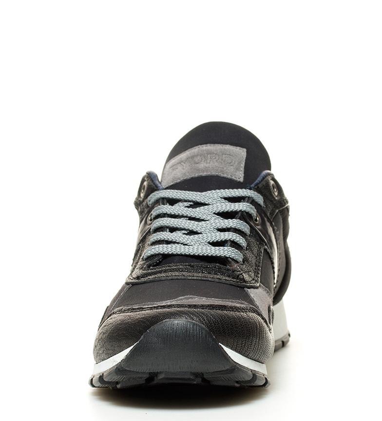 Fyord Zapatillas de piel Young negro