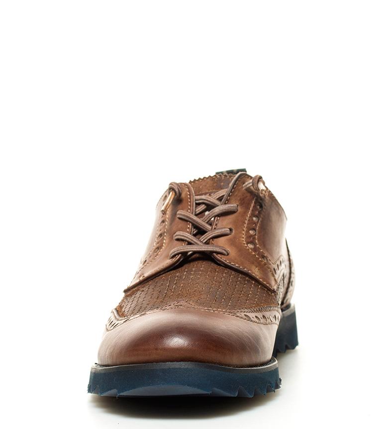 Fyord Zapatos de piel Tickles camel ocsuro