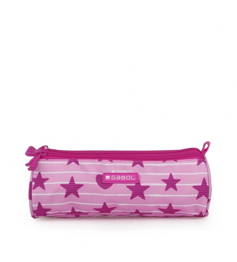 Comprar Gabol Astuccio Triple Shiny rosa -22x7x7cm-