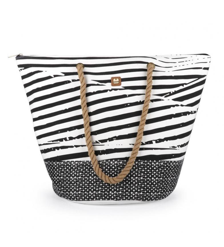 Comprar Gabol Beach bag Bora white, black -56x41x34cm