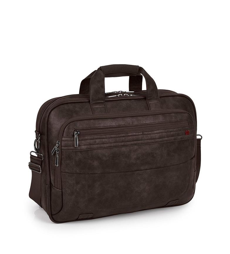 Comprar Gabol Civic case marron -43x31x11cm-