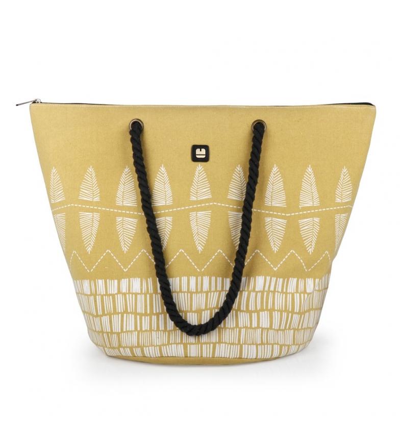 Comprar Gabol Daikiri beach bag yellow -56x41x34cm