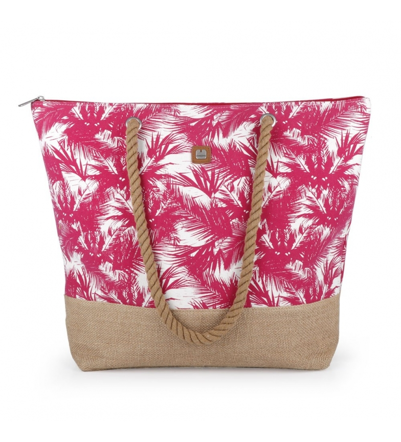 Comprar Gabol Beach bag Tahiti raspberry -50x41x14 cm