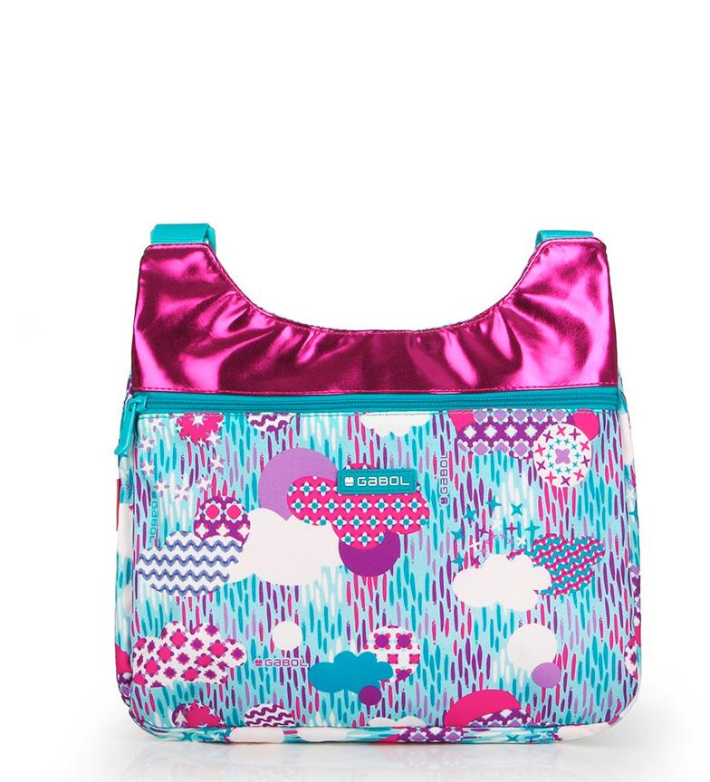 Comprar Gabol Bolso Color azul, rosa metalizado -32.5x30x4cm-