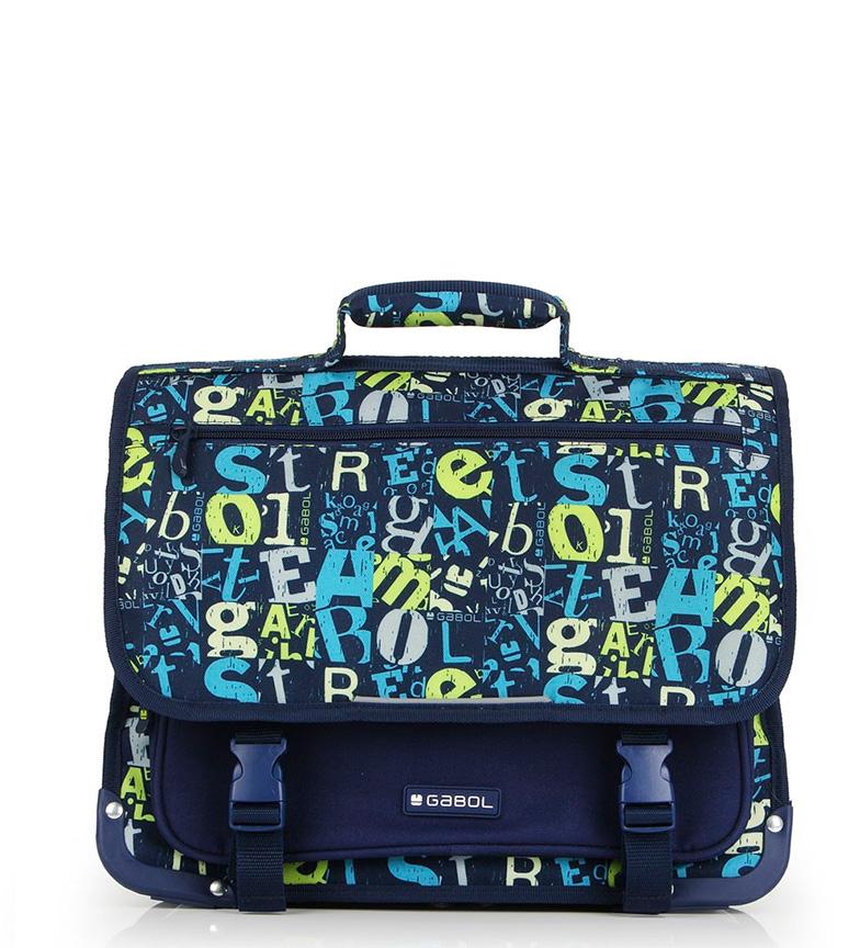 Comprar Gabol Cartera Marker azul -39x31x13cm-