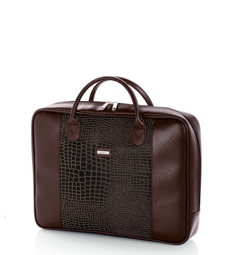 Comprar Gabol Cobalt marrone valigetta -40x30x6cm-