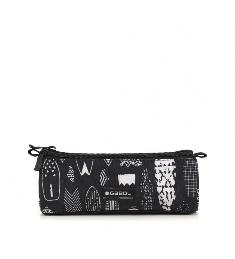 Comprar Gabol Estuche Triple Hawai negro, blanco -22x7x7cm-