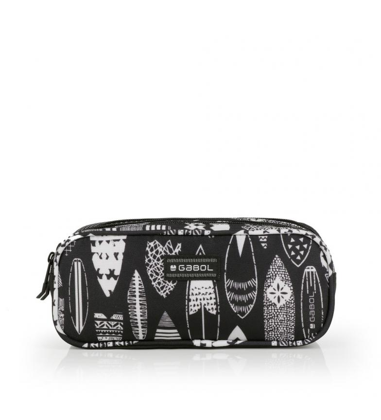 Comprar Gabol Astuccio triplo Hawaii nero, bianco -22x9x9cm-