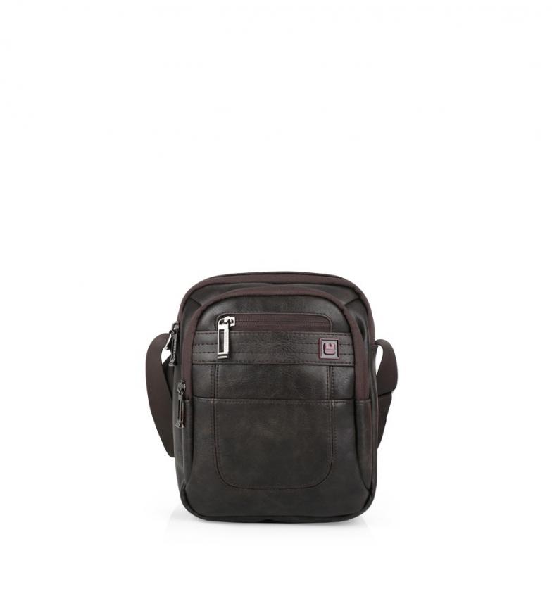 Comprar Gabol Civic chocolate reporter shoulder bag -19x24x7 cm