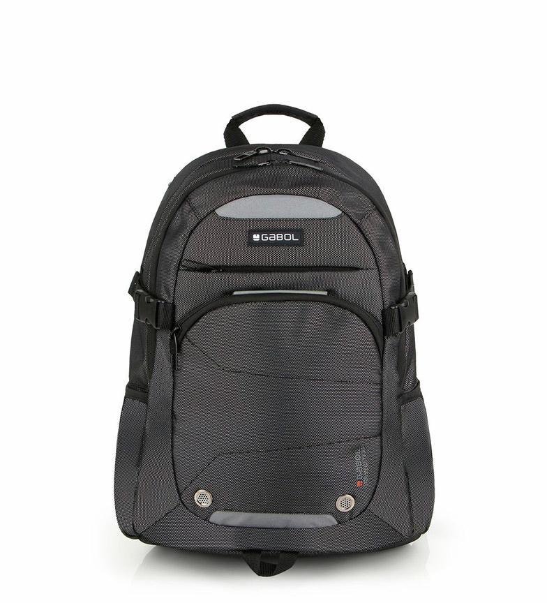 Comprar Gabol Mochila cinza preta -34x46x20cm-