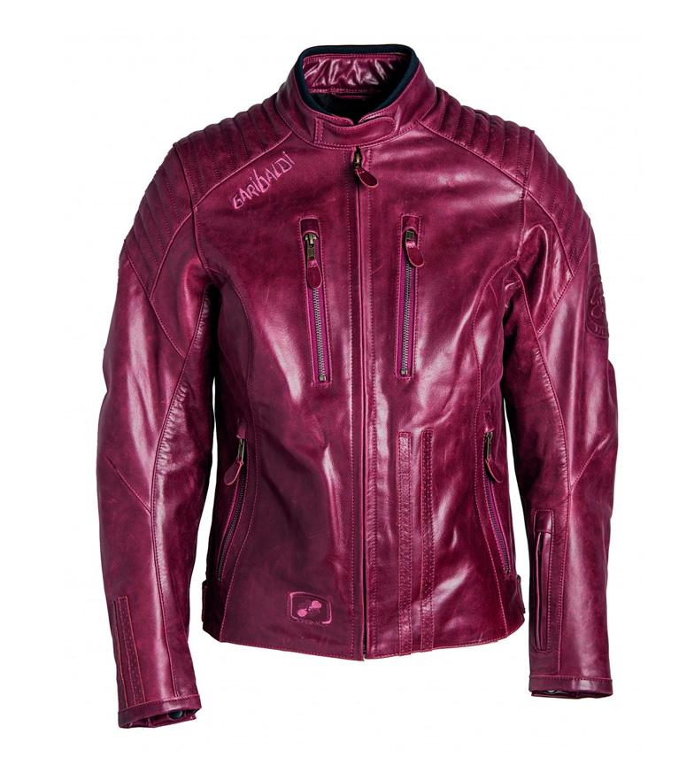 34751f10b0b Comprar Garibaldi Chaqueta de piel Bullrider Lady granate - votre boutique  en ligne de Moto