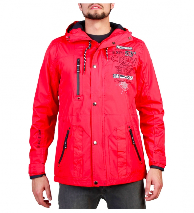 the best attitude 5bc19 a6ee2 Dettagli su Geographical Norway - Giacche Clement_man rosse Uomo Rosso  Casual Sportivo