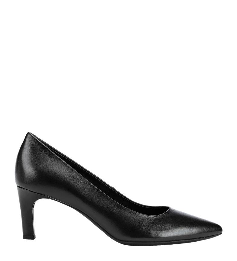 Comprar GEOX Bibbiana leather shoes black -heel height: 6.3cm