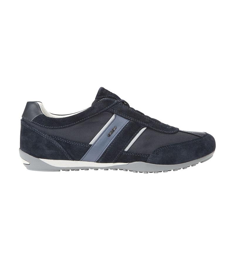 Comprar GEOX Sneakers Wells in pelle blu navy