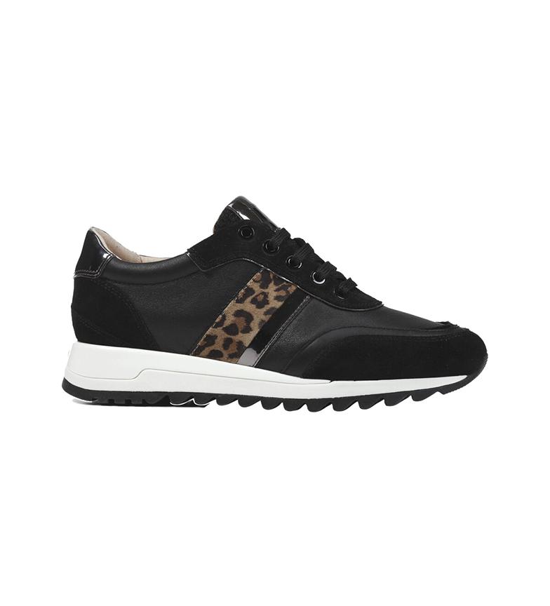 Comprar GEOX Tableya black leather sneakers