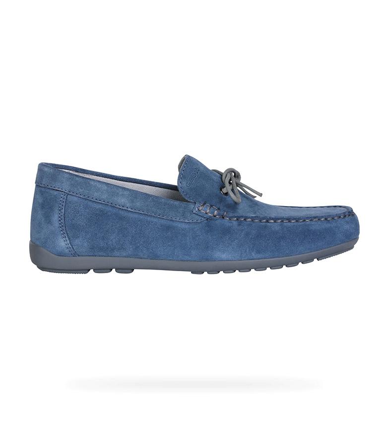 Comprar GEOX Mocassins de couro azul Tivoli