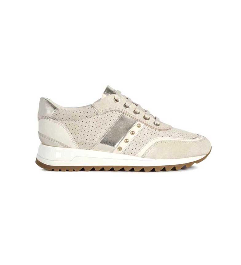 Comprar GEOX Tabelya beige leather sneakers