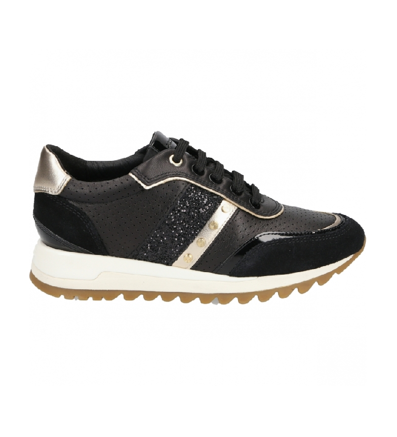 GEOX Zapatillas de piel Tabelya negro
