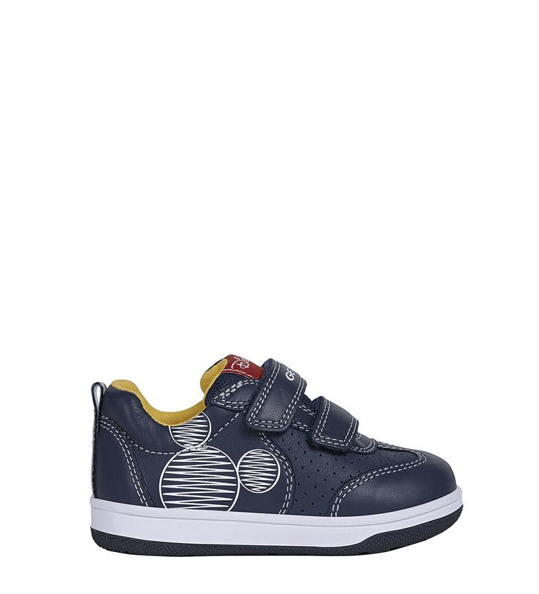 Comprar GEOX Novo Flick Leather Sapatos de Couro Marinho