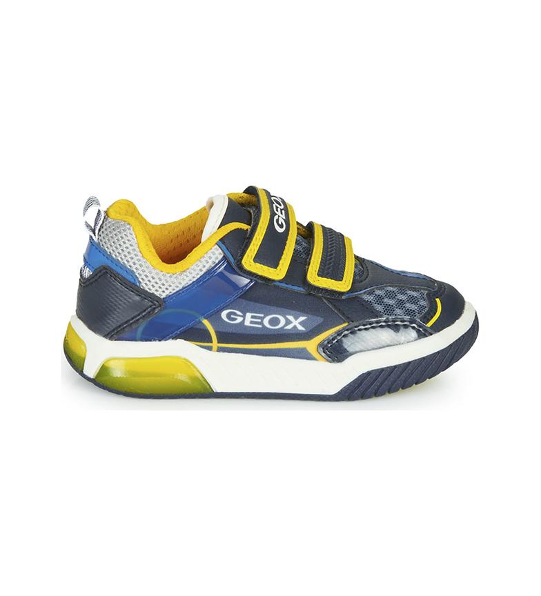 GEOX Baskets J Inek Boy A bleu, jaune