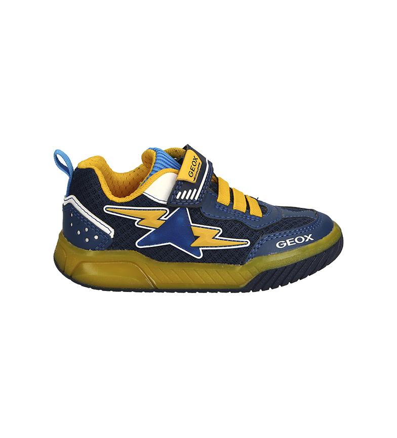 GEOX Baskets J Inek Boy B bleu, jaune