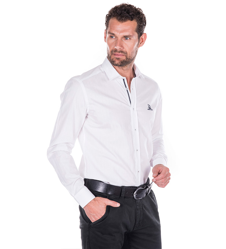 Di Latitude Camisa Giorgio Blanco Mare dCBexo