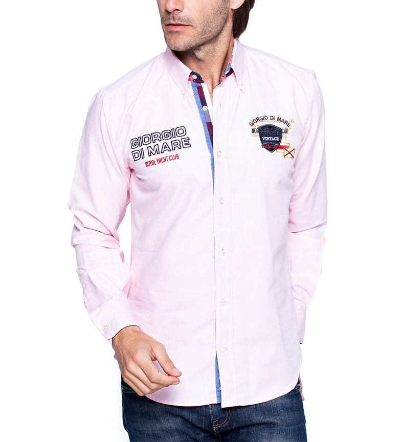 Giorgio Di Mare Camisa Vintage Yatching rosa
