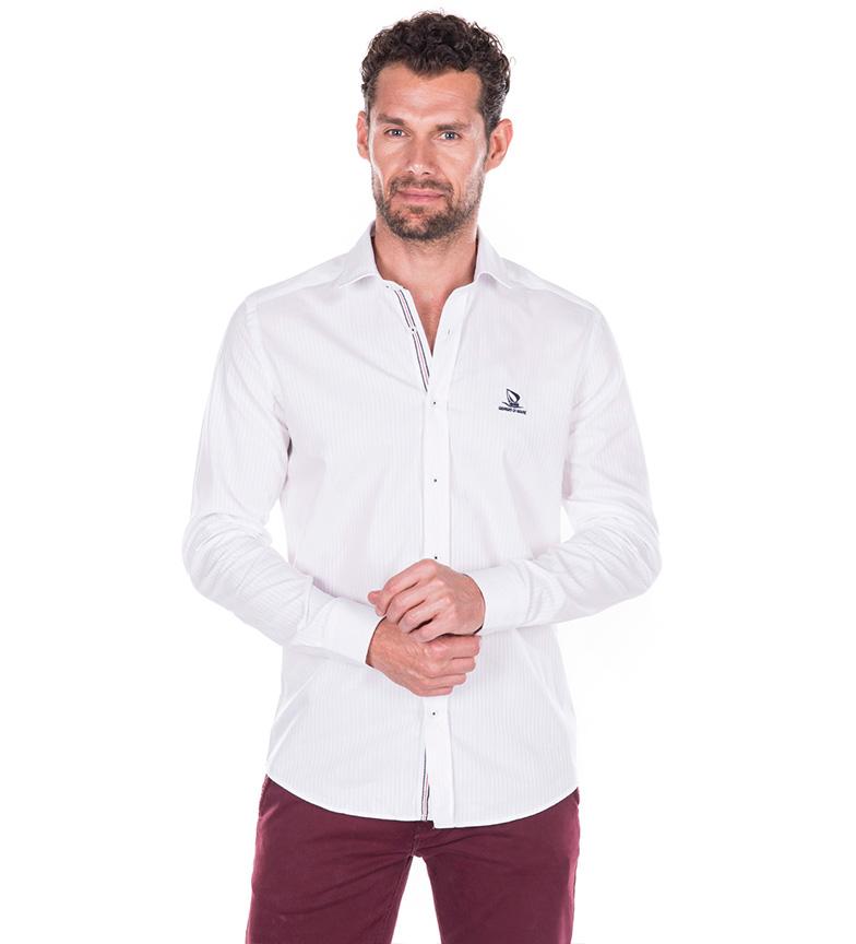 Sea Camisa Latitud Blanco Giorgio rabatt kostnader behagelig for salg rabatt 2014 rabatt kjøpet FRsBo7SP