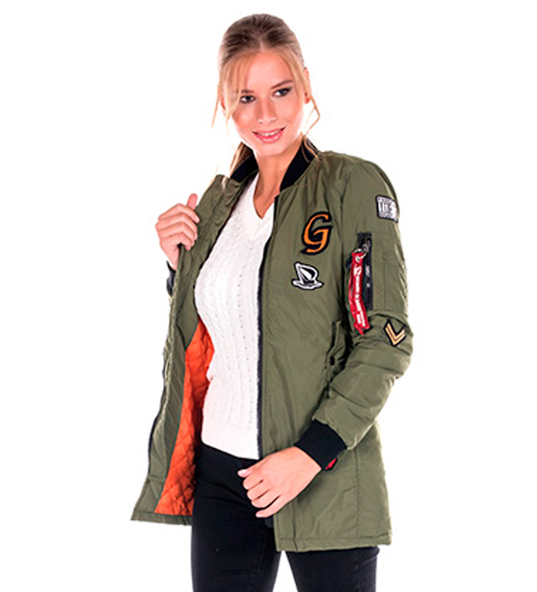 Sea George Chaqueta Grønn Bomber Outlet store Steder xw2UFj