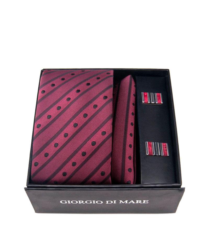 Comprar Giorgio Di Mare Vestito granato di pipistrelli - cravatta, sciarpa, gemelli da polso -