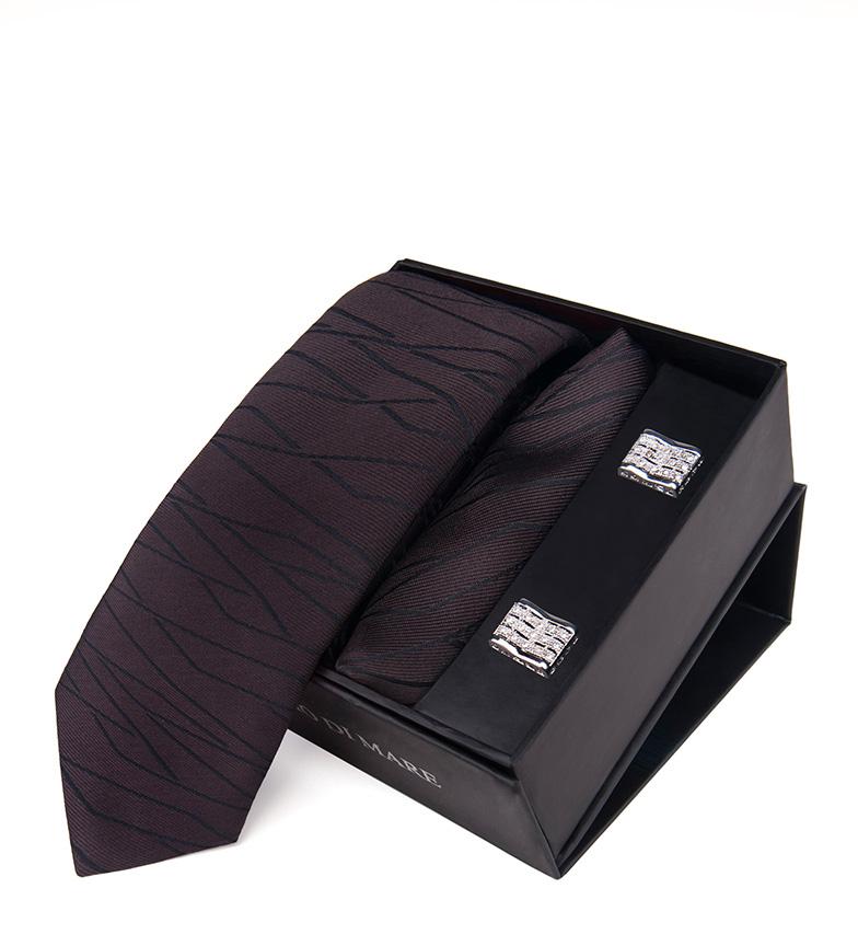 Comprar Giorgio Di Mare Tenue grenat, cravate, écharpe, boutons de manchette.