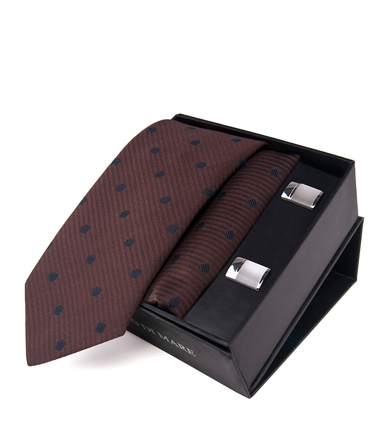 Comprar Giorgio Di Mare Ensemble Liock grenat - cravate, écharpe, boutons de manchette-