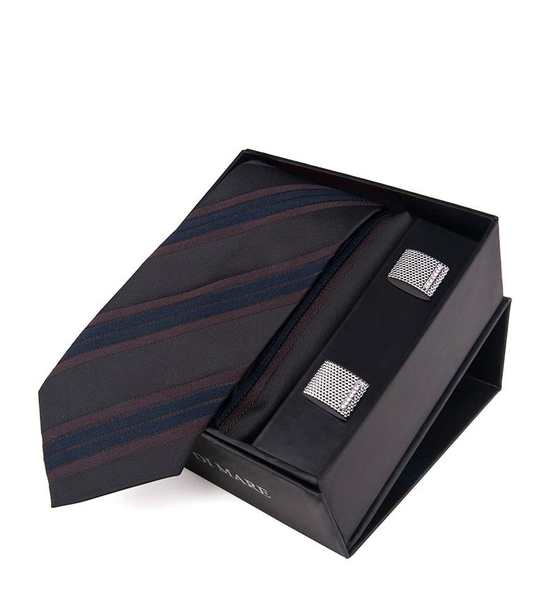 Comprar Giorgio Di Mare Conjunto Liock granate, gris -corbata, pañuelo, gemelos-
