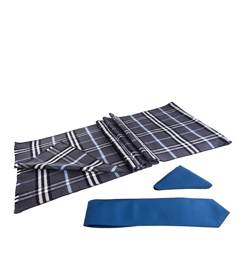 Comprar Giorgio Di Mare Conjunto Dams azul -bufanda, pañuelo, corbata-
