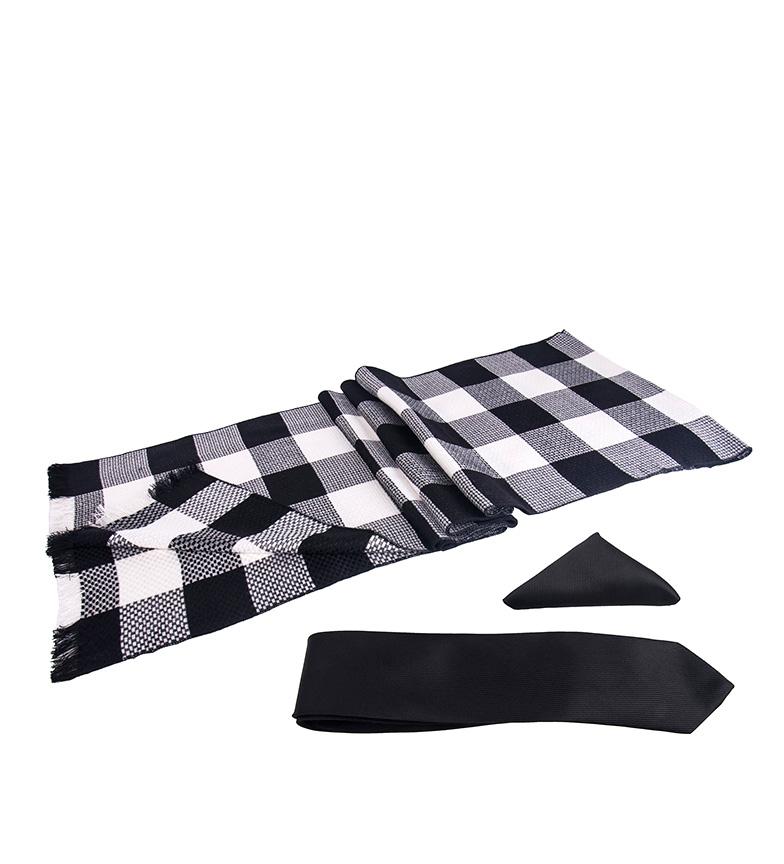 Comprar Giorgio Di Mare Conjunto Clou negro -bufanda, pañuelo, corbata-
