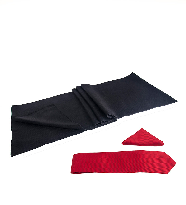 Comprar Giorgio Di Mare Conjunto Yiu negro, rojo -bufanda, pañuelo, corbata-