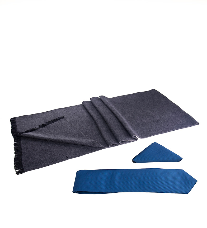 Comprar Giorgio Di Mare Conjunto Bran azul -bufanda, pañuelo, corbata-