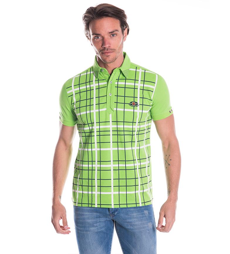Polo Giorgio Di Geometric Mare Verde 3cLAR5jqS4