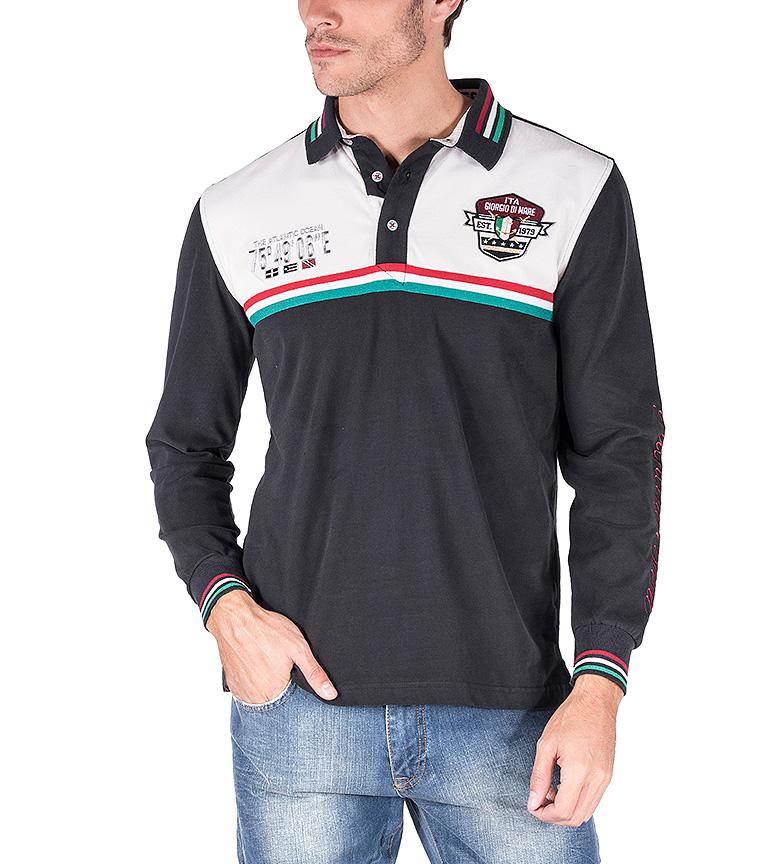 Giorgio Di Mare Polo Porto Rotondo negro, blanco