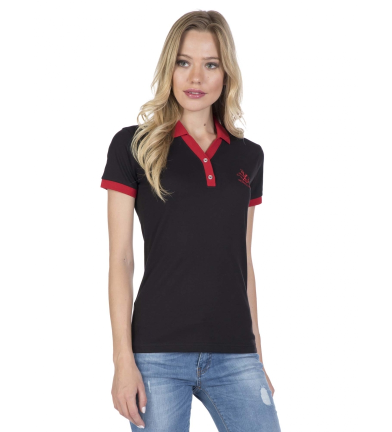 Comprar Giorgio Di Mare Yaiza black polo shirt