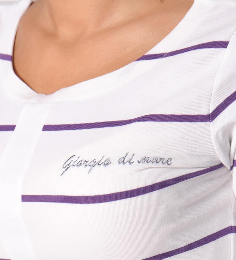 Giorgio Di Mare Vestido Mare blanco,lila