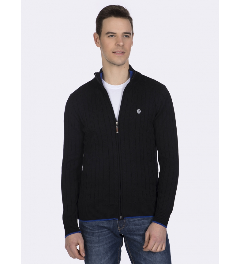 Comprar Giorgio Di Mare Hen Cotton and silk sweater black