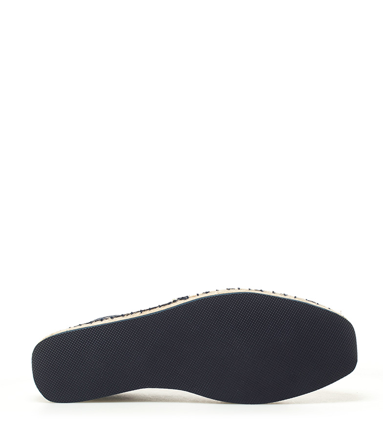Gioseppo-Alpargatas-de-piel-Layrd-Azul-Negro-Marron-Tela-Plano-Ninguno