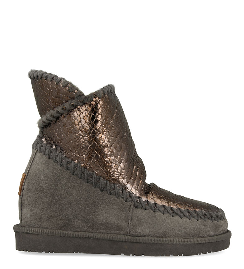 Comprar Gioseppo Alida leather boots grey, bronze - Wedge+sole height: 5cm
