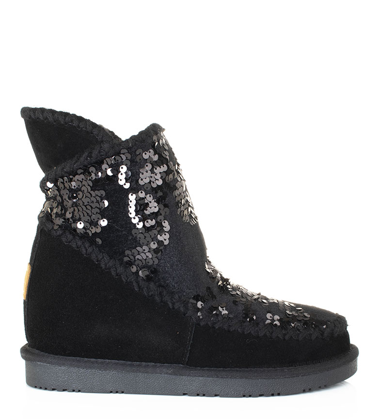 Comprar Gioseppo Josca III leather boots black - Wedge+sole height: 5cm