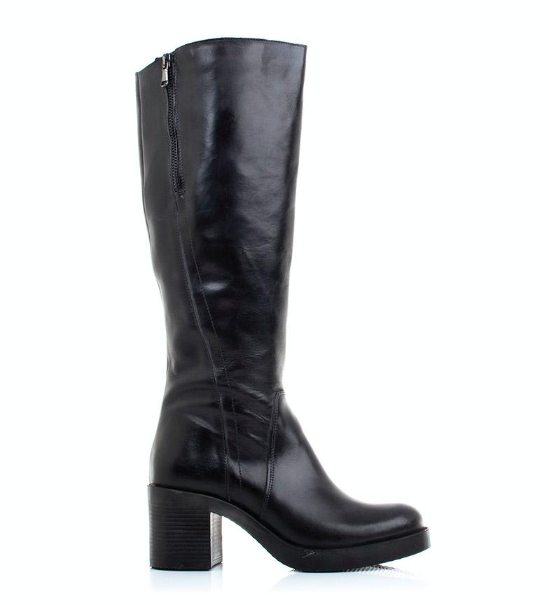 Comprar Gioseppo Black Olenna leather boots -heel height: 7cm