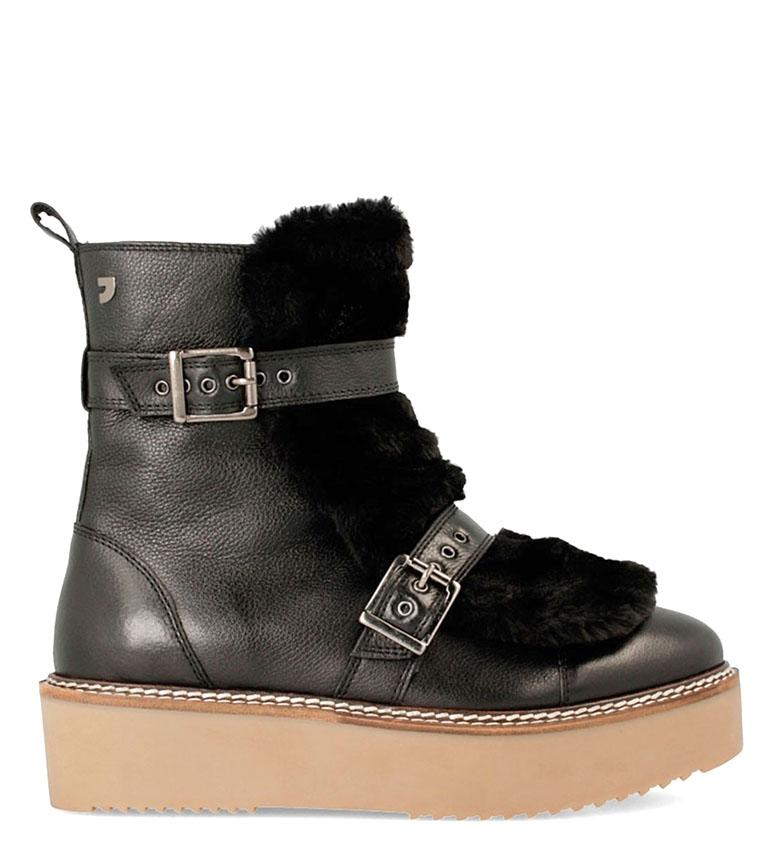 Comprar Gioseppo Boots of skin Yomi burgundy -High sole: 4.5cm-