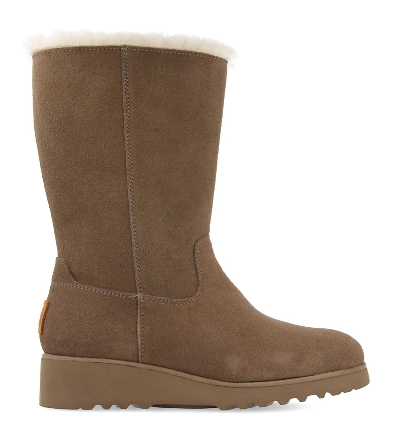 Comprar Gioseppo Dillingham taupe boots - inner wedge height + sole: 6cm