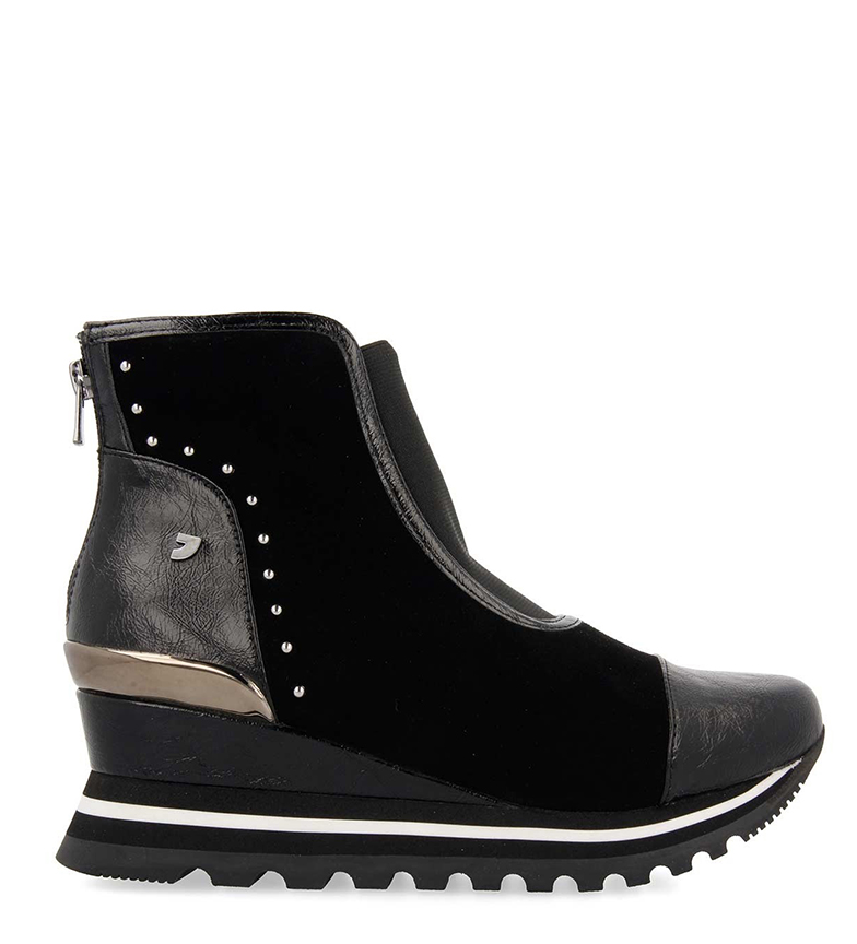 Comprar Gioseppo Bettendorg black boots - wedge height: 6cm