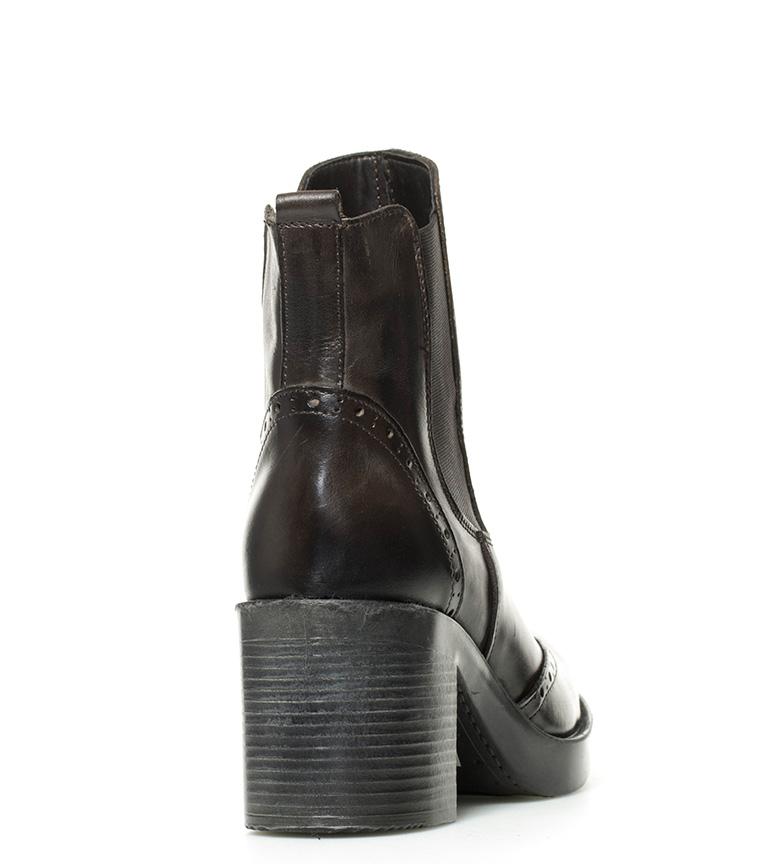 7cm tacón Gioseppo de Botines oscuro Erlinda piel br marrón Altura br wvRAqx